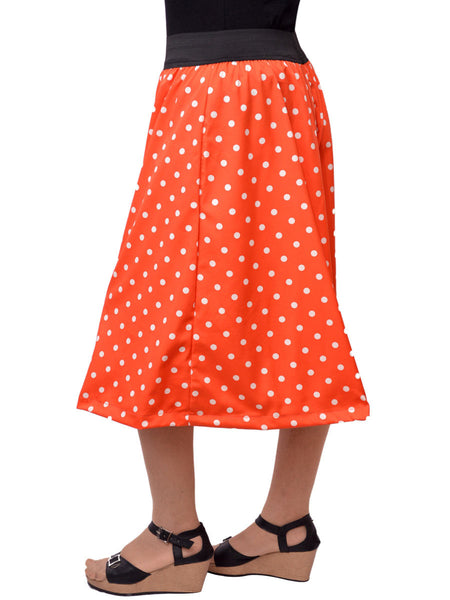 Jaipuri Palazzo Pants In Orange Polka Dot - GV-PJRTPMG1AG12