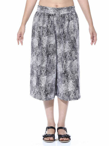 Black & White Small Animal Print Culotte From Jaipur - GV-PJRCG24APL2