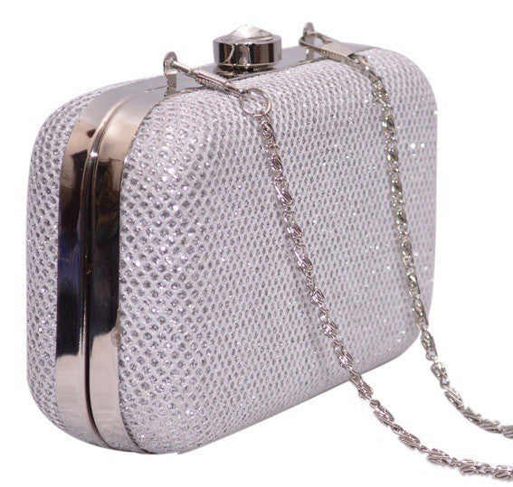Silver Clutch From Mumbai - GDCB23JY2