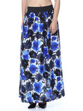 Elastic Skirt From Jaipur In Blue Flower - GV-PJRSEG20APL3