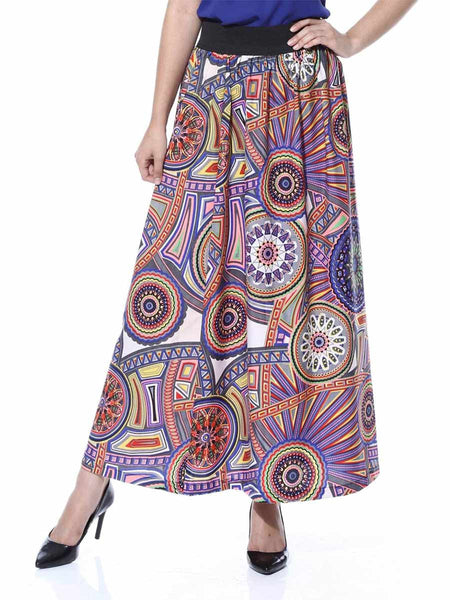 Elastic Skirt From Jaipur In Multicolor - GV-PJRSEG20APL7
