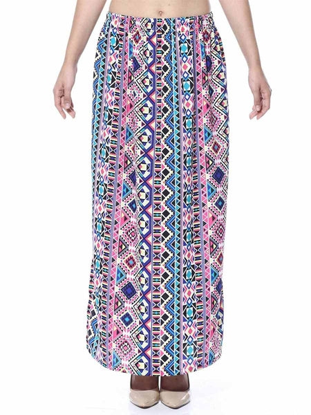 Elastic Skirt From Jaipur In Multicolor - GV-PJRSEG20APL24
