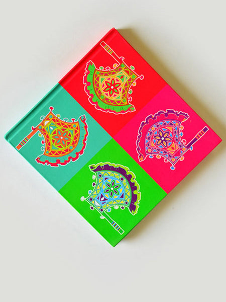 Pankha Note Book From Rajkot In Multicoloured - SO-DKBS25AP41