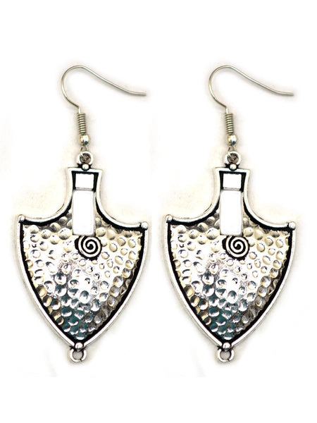 Earrings From Rajasthan In Silver - CJRE7OT18
