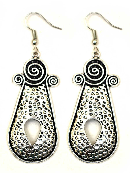 Earrings From Rajasthan In Silver - CJRE7OT11