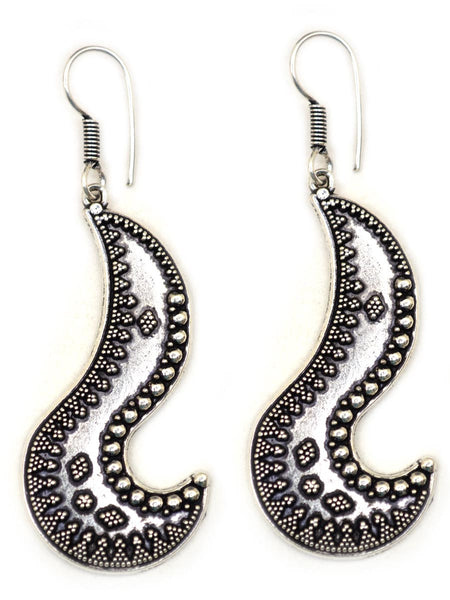 Earrings From Rajasthan In Silver - CJRE7OT20