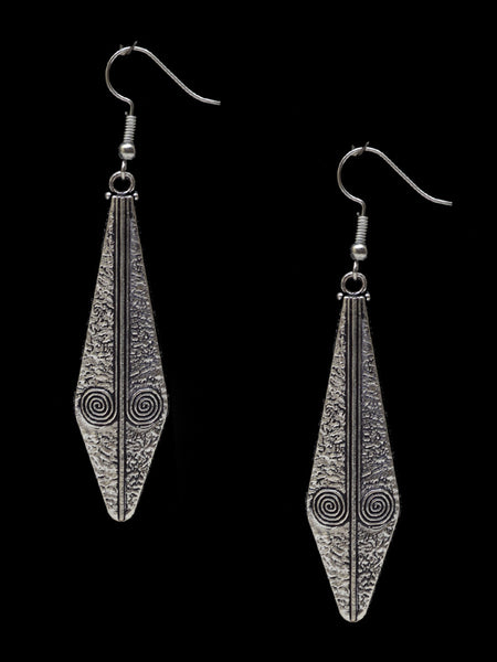 Earrings From Rajasthan In Silver - CJRE7OT10
