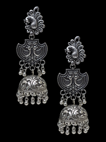 Earrings From Rajasthan In Silver - CJRE7OT25