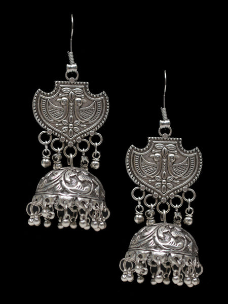 Earrings From Rajasthan In Silver - CJRE7OT22