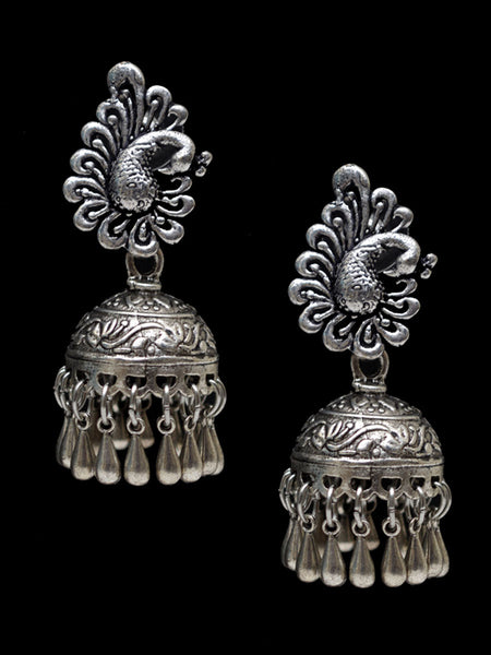 Earrings From Rajasthan In Silver - CJRE7OT27