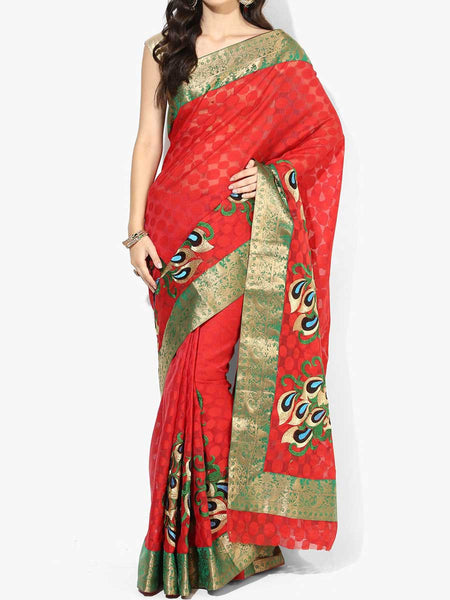 Banarasi Saree In Red - RB-BPBUSA11JL241