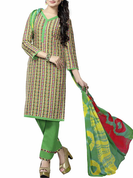 Cotton Suit From Kolkata In Multicolour - FPKWA9AG62