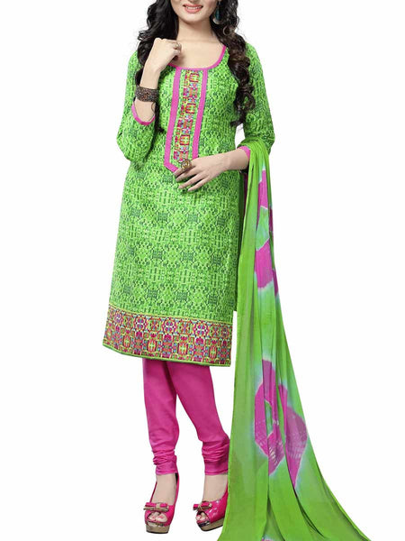 Cotton Suit From Kolkata In Green - FPKWA9AG66