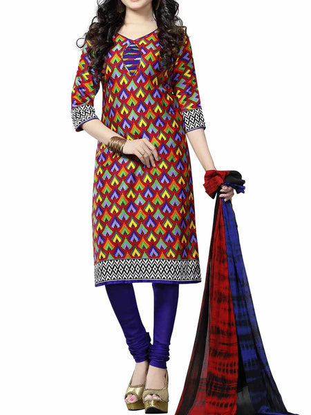 Cotton Suit From Kolkata In Multicolour - FPKWA9AG67