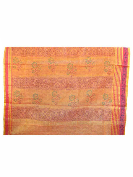 Kota Doria Handloom Saree From Kota In Multicolor - H1-PKRSA1
