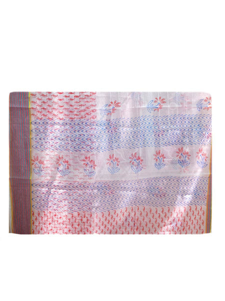 Kota Doria Handloom Saree From Kota In Cream - H1-PKRSA2