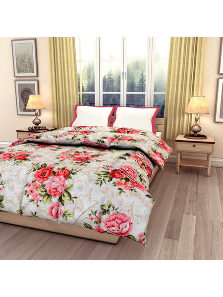Multicolor Floral Printed Single Bed Reversible Ac Comforter - EC-DDQ25MA163