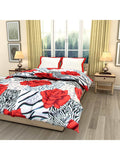 Red Rose Printed Single Bed Reversible Ac Comforter - EC-DDQ25MA164