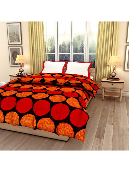 Circle Geometric Floral Printed Single Bed Reversible Ac Comforter - EC-DDQ25MA231