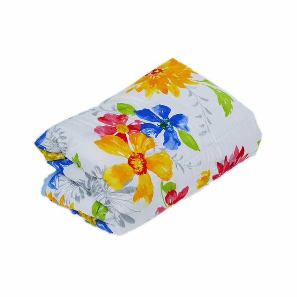 Colorful Flowers Single Bed Reversible AC Comforter - EC-DDQ9SP92