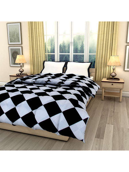 Square Checks Printed Single Bed Reversible Ac Comforter - EC-DDQ25MA233