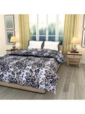 Black Floral Printed Single Bed Reversible Ac Comforter - EC-DDQ25MA236