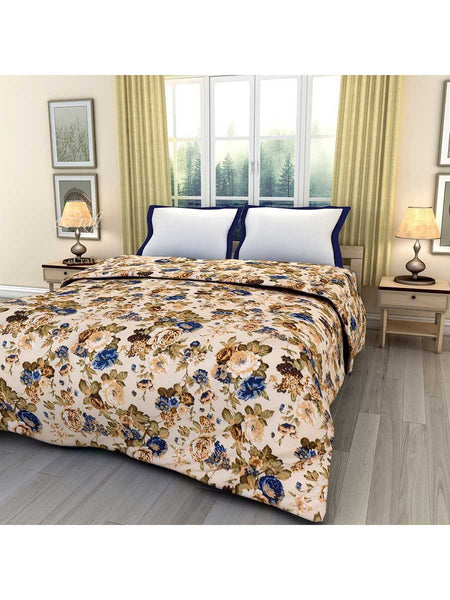 Multicolor Floral Printed Single Bed Reversible Ac Blanket - EC-DDQ25MA141
