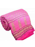 Double Bed Jaipuri Cotton Quilt In Pink-EC-DRJQ16D7