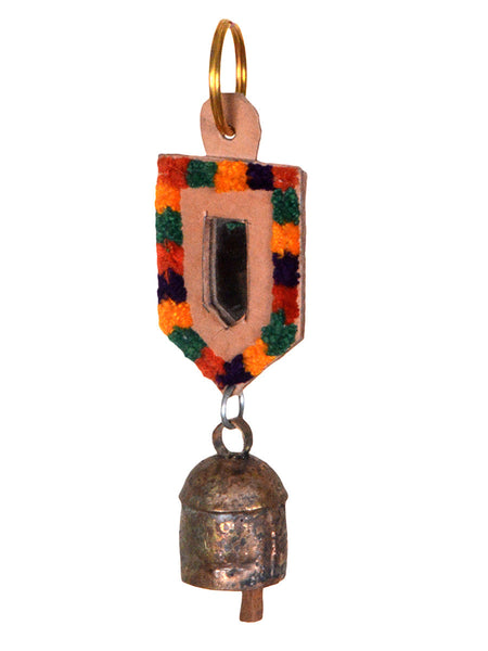 Copper Coated Iron Bell Key Chain from Gujarat - HKGB16MH2