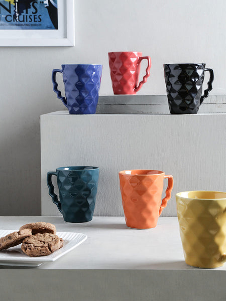 Ceramic Multicolored Coffee Mug Set(Set Of 6) - UR-IHDTC7JN352
