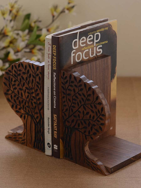 Tree Of Life Wooden Book Ends - UR-IHUDO7JN228
