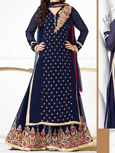Blue Georgette Salwar Kameez From Surat - TA-ASGS20SP10