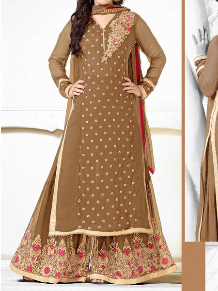 Chickoo Georgette Salwar Kameez From Surat - TA-ASGS20SP12