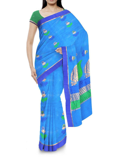 Kota Doria Handloom Saree From Kota In Blue - IA-PKRSA2AG17