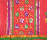 Kota Doria Handloom Saree From Kota In Red - IA-PKRSA2AG18