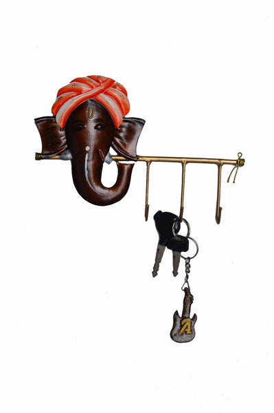 Wrought Iron Lord Ganesha Key Holder - EC-HJRWI3AG99