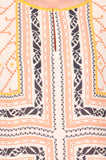 Long Tunic With Palazzo In Orange & Off White - S2-SPAT4FB4