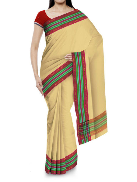 Kota Doria Handloom Saree From Kota In Brown - IN-PKRSA2AG1