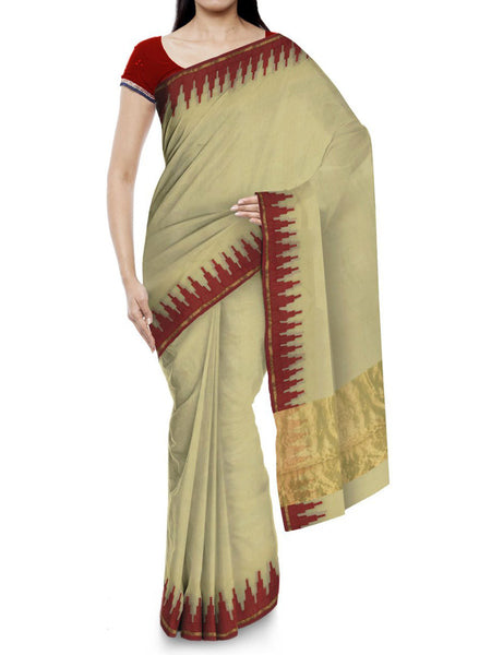 Kota Doria Handloom Saree From Kota In Brown - IN-PKRSA2AG2