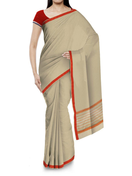 Kota Doria Handloom Saree From Kota In Yellow - IN-PKRSA2AG5