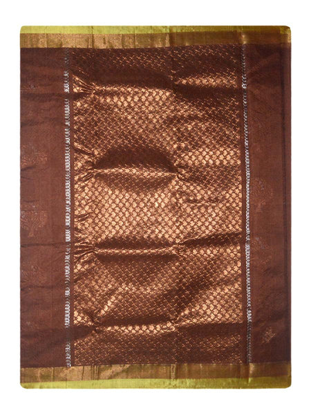 Kota Doria Handloom Saree From Kota In Brown - IN-PKRSA26JL3
