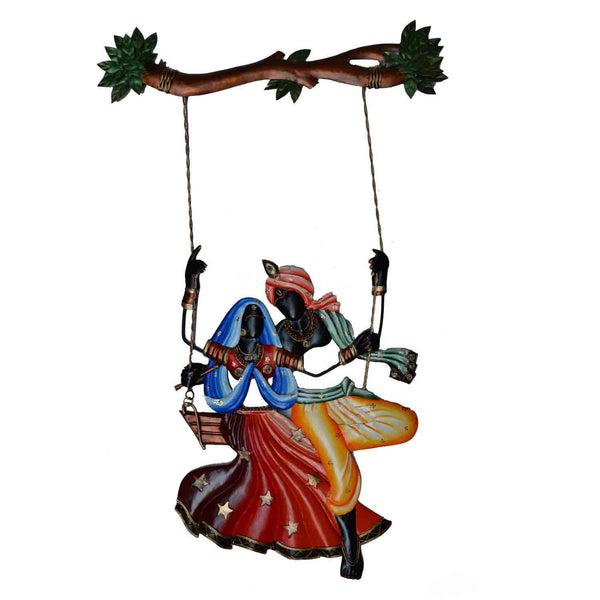 Radha Krishna on Swing Wall Hanging - EC-HJRWI3AG121