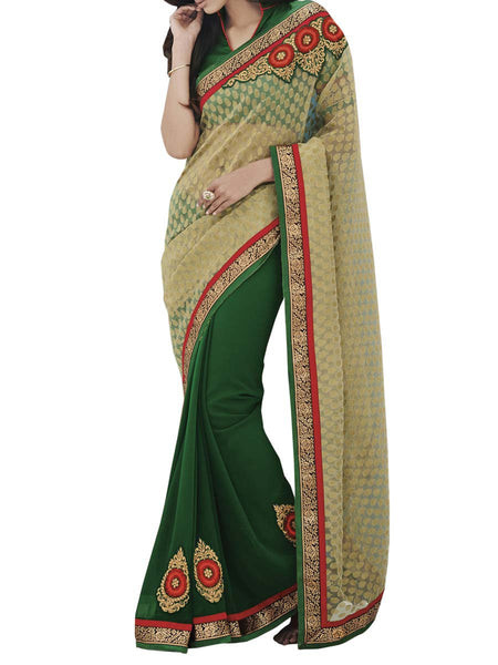 Gold Colour Fancy Jacquard Traditional Designer Occation Wear Saree With Matching Blouse Piece From West Bengal - PWBSAI6MH26