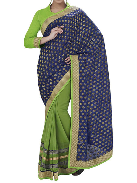 Violet Colour Viscose Traditional Saree - PWBSAI2MH3