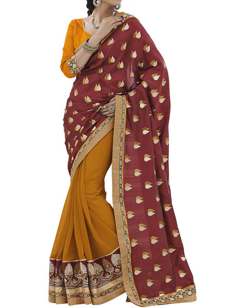 Red Colour Fancy Jacquard Traditional Saree - PWBSAI2MH19