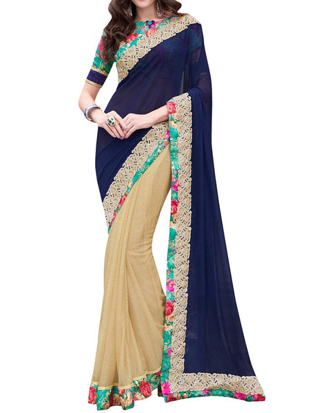 Multi Colour Bemberg Traditional Saree - PWBSAI28FB13