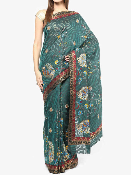 Banarasi Saree In Green - RB-BPBUSA11JL380