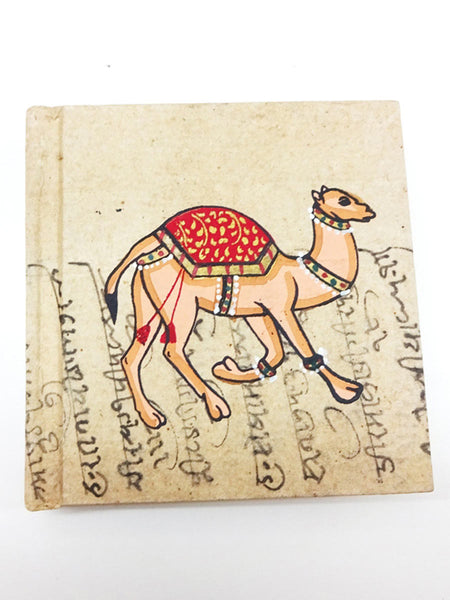 Camel Print Handmade Journal From Jaipur - CFMNB12JL5