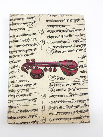 Sitar Print  Handmade Journal From Jaipur - CFMNB12JL10