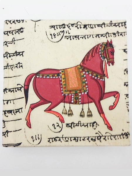 Horse Print Handmade Journal From Jaipur - CFMNB12JL3